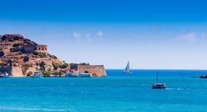 La fortezza dell'isola di Spinalonga, Creta Immagine Stock