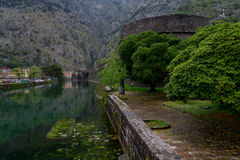 La fortezza di Cattaro montenegro Fotografia Stock Libera da Diritti
