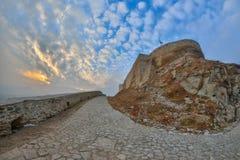 La fortezza di Deva, Romania immagine stock libera da diritti
