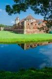 La fortezza di Fagaras nella contea di Brasov, Romania. fotografia stock