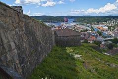 La fortezza di Fredriksten dentro halden Fotografie Stock
