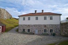 La fortezza di Fredriksten dentro halden (costruzione del corvo) Immagini Stock Libere da Diritti