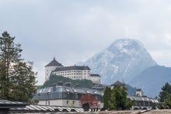 La fortezza di Kufstein nell'inverno Immagine Stock