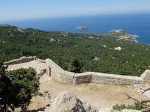 La fortezza di Monolithos immagine stock