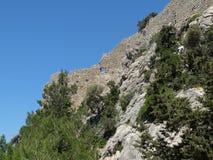 La fortezza di Monolithos immagini stock libere da diritti
