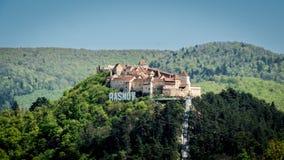 La fortezza di Rasnov, Romania fotografie stock