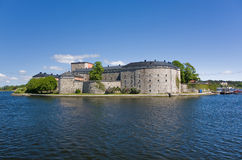 La fortezza di Vaxholm, Svezia Fotografia Stock Libera da Diritti