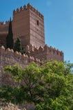 La fortezza medievale Alcazaba di moresco a Almeria, punta orientale è il bastione dell'uscente, Spagna Fotografia Stock