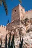 La fortezza medievale Alcazaba di moresco a Almeria, punta orientale è il bastione dell'uscente, Spagna Immagine Stock Libera da Diritti