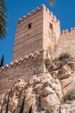 La fortezza medievale Alcazaba di moresco a Almeria, punta orientale è il bastione dell'uscente, Spagna Immagini Stock