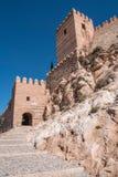 La fortezza medievale Alcazaba di moresco a Almeria, punta orientale è il bastione dell'uscente, Spagna Fotografie Stock