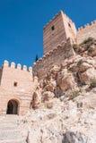 La fortezza medievale Alcazaba di moresco a Almeria, punta orientale è il bastione dell'uscente, Spagna Fotografia Stock Libera da Diritti