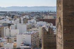 La fortezza medievale Alcazaba di moresco a Almeria, punta orientale è Th Fotografia Stock