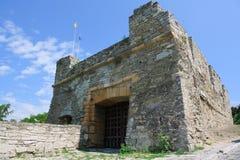 La fortezza medioevale in Carpathians Immagini Stock Libere da Diritti