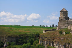 La fortezza medioevale in Carpathians Fotografie Stock