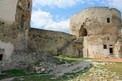 La fortezza medioevale in Carpathians Fotografia Stock