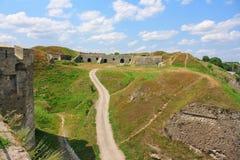 La fortezza medioevale in Carpathians Fotografie Stock Libere da Diritti