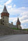 La fortezza medioevale in Carpathians Fotografia Stock Libera da Diritti