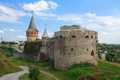 La fortezza medioevale in Carpathians Immagine Stock