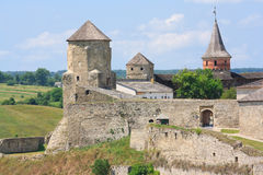 La fortezza medioevale in Kamenets Podolskiy Immagine Stock Libera da Diritti