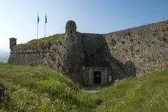 La fortezza militare di Gavi Ligure Immagine Stock