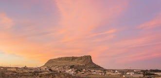 La fortezza rosa fotografie stock libere da diritti