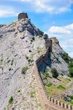 La fortification passant par le dessus de montagne Photo libre de droits