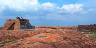 La fortificazione con il cielo Fotografie Stock Libere da Diritti