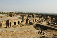 La fortificazione di golconda, Haidarabad Fotografia Stock Libera da Diritti