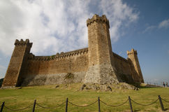 La fortificazione di Montalcino Fotografia Stock Libera da Diritti