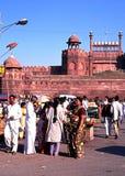 La fortificazione rossa, Delhi fotografie stock
