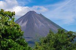 La Fortuna Volcano. In Costa Rica smoking Royalty Free Stock Photo