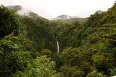 La Fortuna waterfall, Costa Rica. Royalty Free Stock Photos