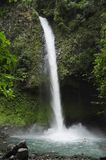 La Fortuna waterfall splashes down into a popular swimming hole. stock image