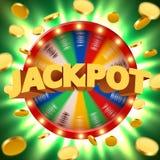 La fortune 3d de rotation réaliste roulent avec piloter les pièces de monnaie d'or Roulette chanceuse Photo libre de droits