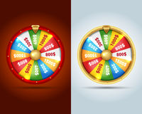 La fortune 3d de rotation réaliste roulent, illustration chanceuse de roulette Photographie stock