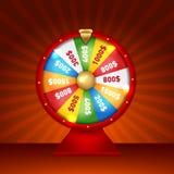 La fortune 3d de rotation réaliste roulent, illustration chanceuse de roulette Photo libre de droits