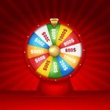 La fortune 3d de rotation réaliste roulent, illustration chanceuse de roulette Photos stock