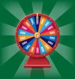 La fortune 3d de rotation réaliste roulent, illustration chanceuse de vecteur de roulette Photographie stock libre de droits