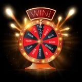 La fortune 3d de rotation réaliste roulent, illustration chanceuse de vecteur de roulette Images libres de droits