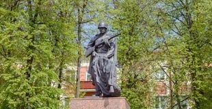La fosa común y la llama eterna están situadas en cuadrado de trabajo en Gomel La intersección de la avenida de Lenin con Interna imagen de archivo libre de regalías