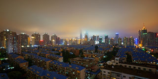 La foschia in Pudong, Shanghai Fotografia Stock