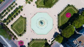 La foto aerea del giardino di Le Mail dentro irrita Immagini Stock
