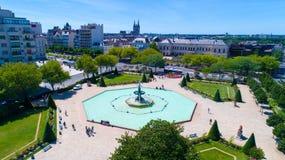 La foto aerea del giardino di Le Mail dentro irrita Fotografia Stock Libera da Diritti