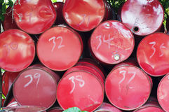 Bidones de aceite Fotos de archivo