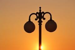 La foto de la lámpara de calle Imagenes de archivo