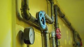 La foto dei tubi del metallo per il rifornimento idrico video d archivio