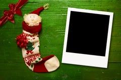 La foto del saludo de la Navidad enmarca tarjetas Foto de archivo