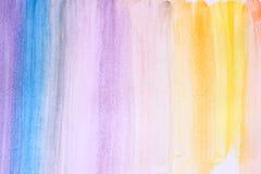 La foto del watercilir multicolor raya hecho a mano Fotografía de archivo