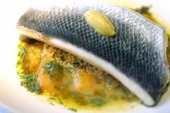 La foto di riserva dei pesci del curry Plat Fotografie Stock